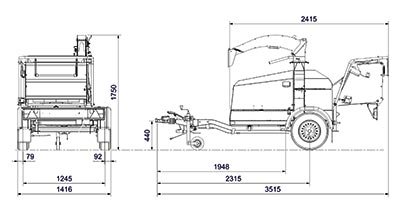 Linddana TP 175 Mobile Chipper Mulcher Melbourne